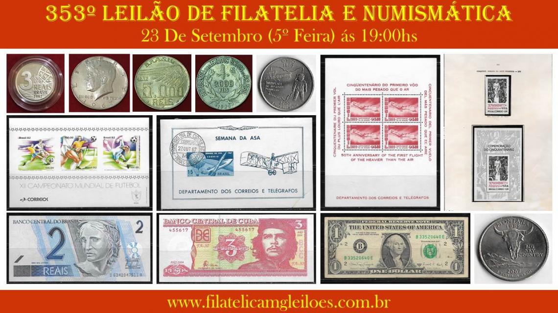 353º Leilão de Filatelia e Numismática