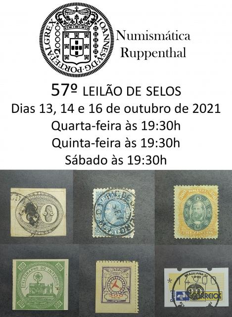 57º LEILÃO DE SELOS - NUMISMÁTICA RUPPENTHAL