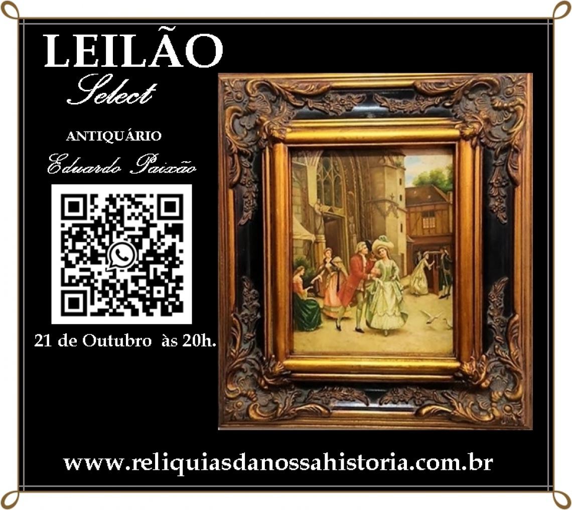 Grande Leilão de Arte Sacra, Cristais,  Mobiliários & Obras de Arte.