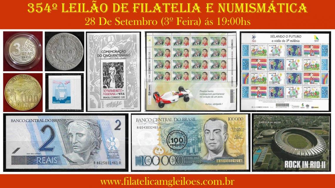 354º Leilão de Filatelia e Numismática