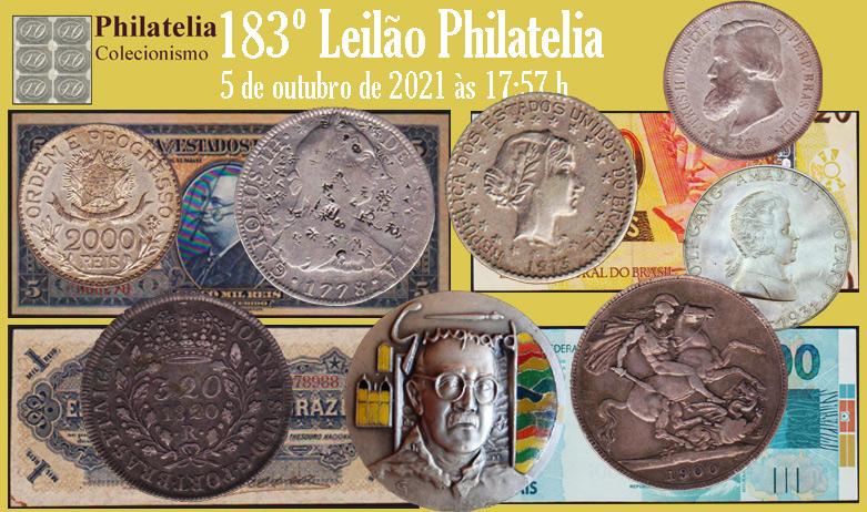 183º Leilão de Filatelia e Numismática - Philatelia Selos e Moedas