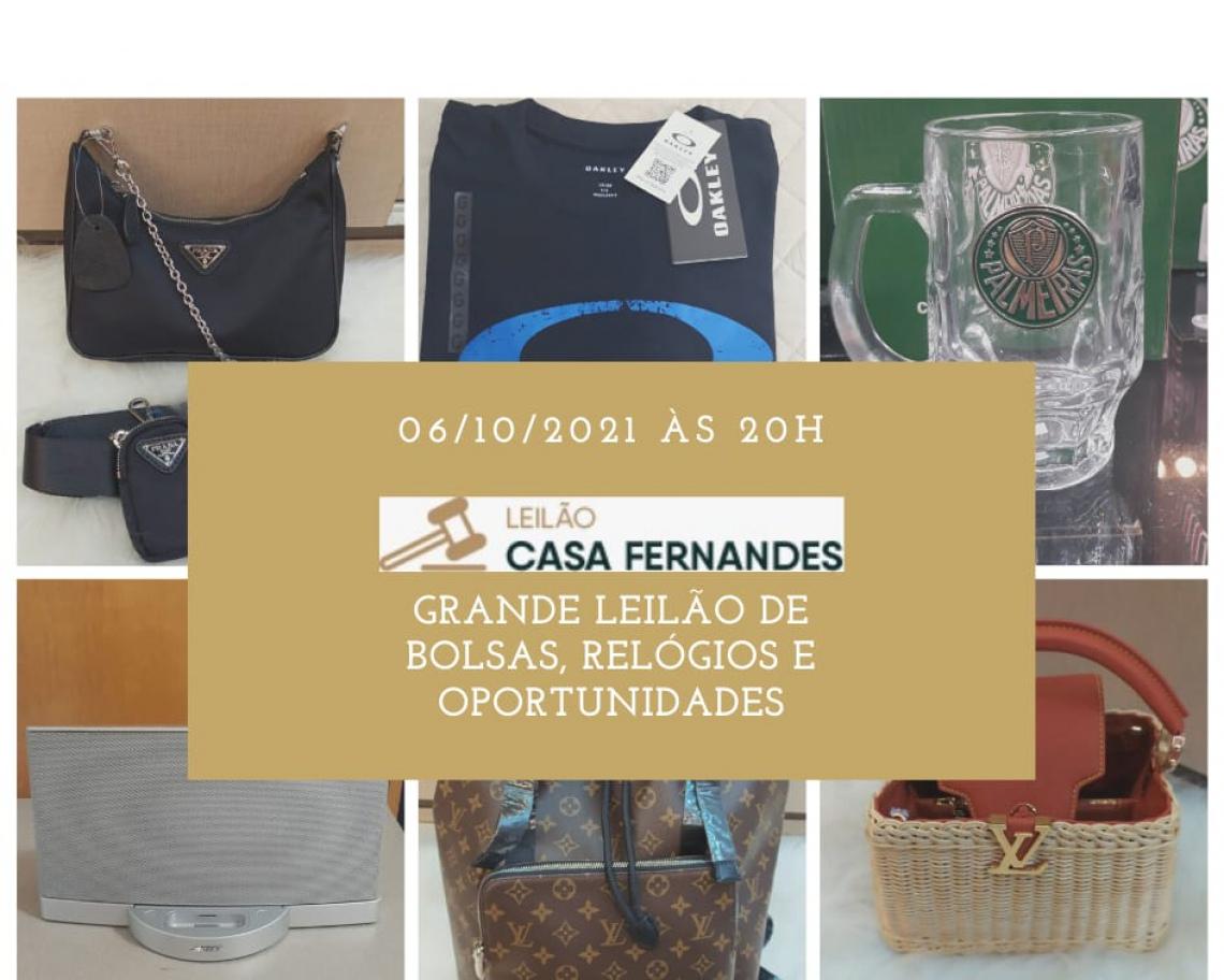 GRANDE LEILÃO DE BOLSAS, RELÓGIOS E OPORTUNIDADES