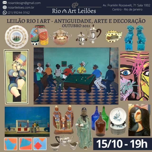 LEILÃO RIO I ART - ANTIGUIDADE, ARTE E DECORAÇÃO - OUTUBRO 2021