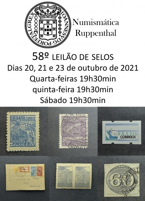 58º LEILÃO DE SELOS - NUMISMÁTICA RUPPENTHAL