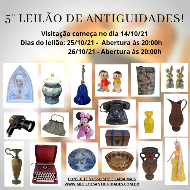 5º LEILÃO DE ARTE E ANTIGUIDADES