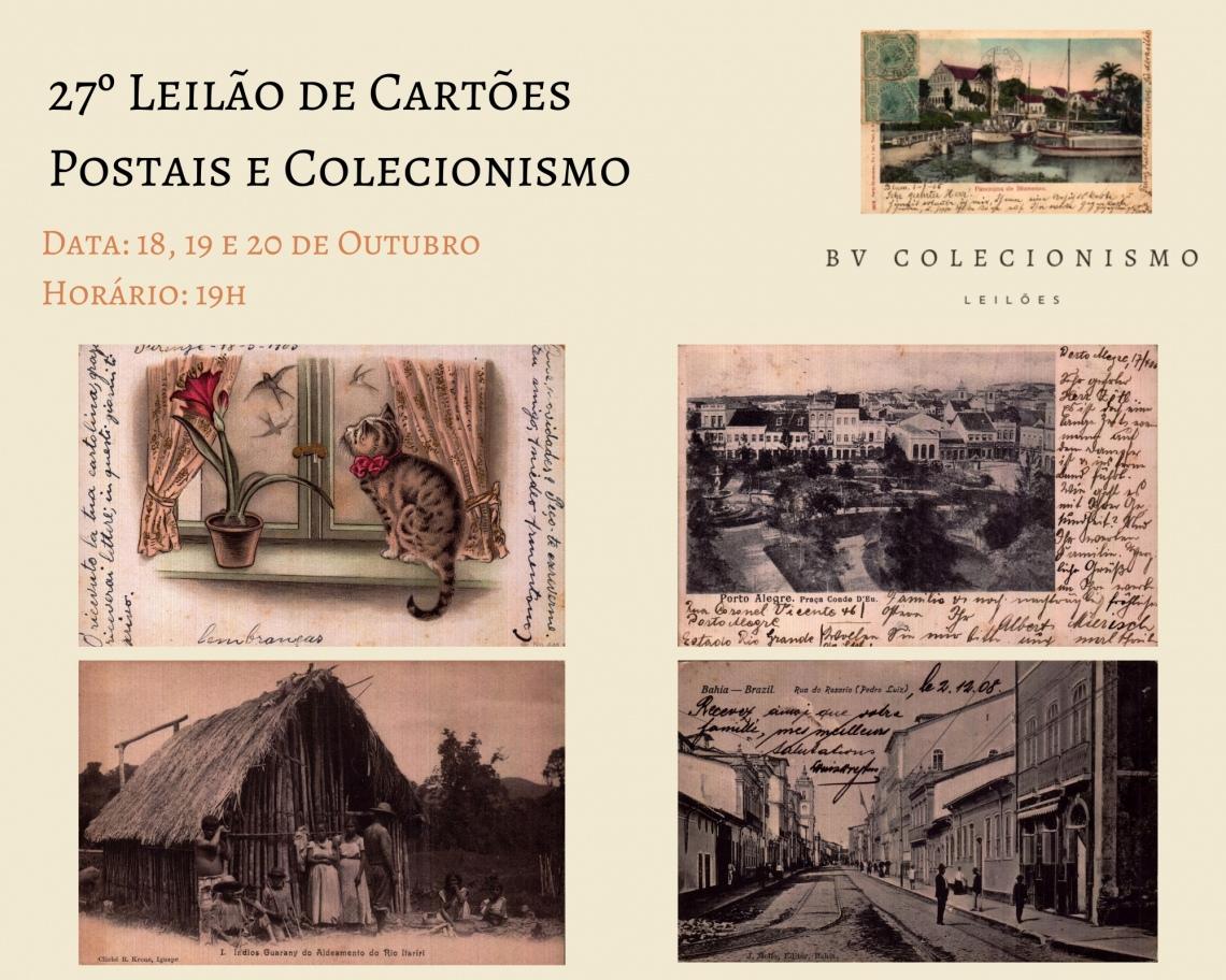 27º LEILÃO DE CARTÕES POSTAIS E COLECIONISMO