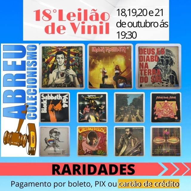 18 LEILÃO DE DISCOS DE VINIL
