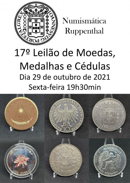 17º Leilão de Moedas, Medalhas e Cédulas - Numismática Ruppenthal