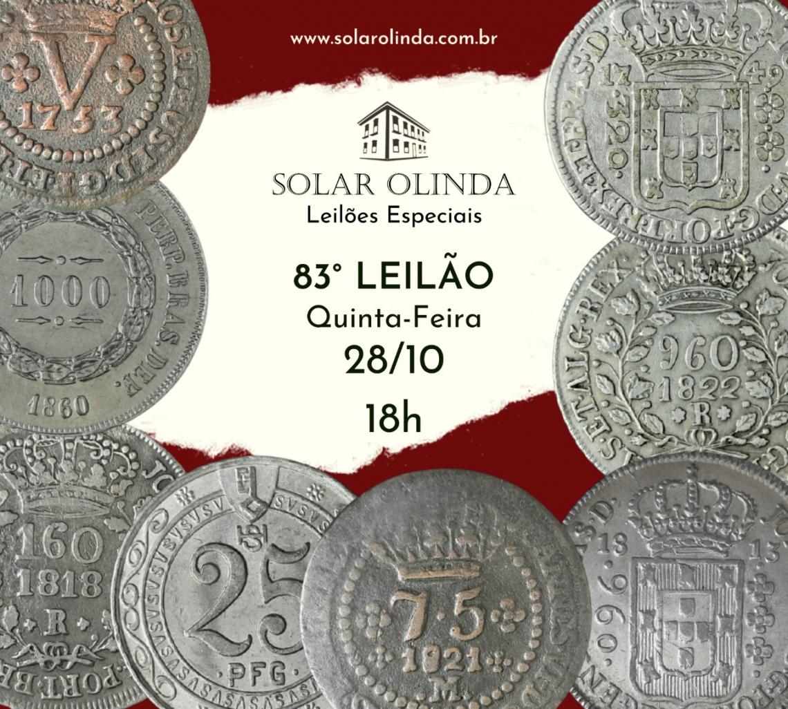 83º LEILÃO SOLAR OLINDA DE NUMISMÁTICA