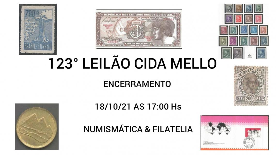 123º LEILÃO CIDA MELLO - NUMISMÁTICA E FILATELIA