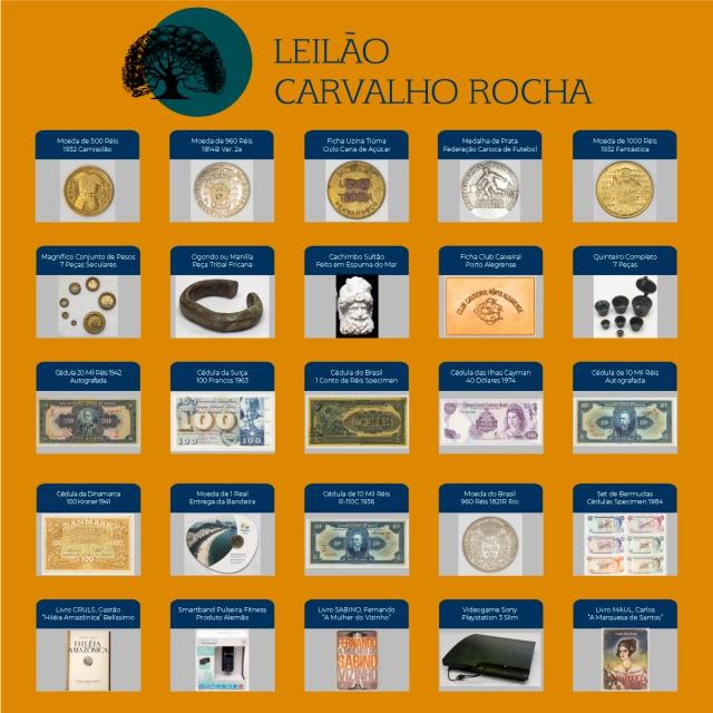 Leilão Carvalho Rocha - Numismática, Colecionismo e Livros