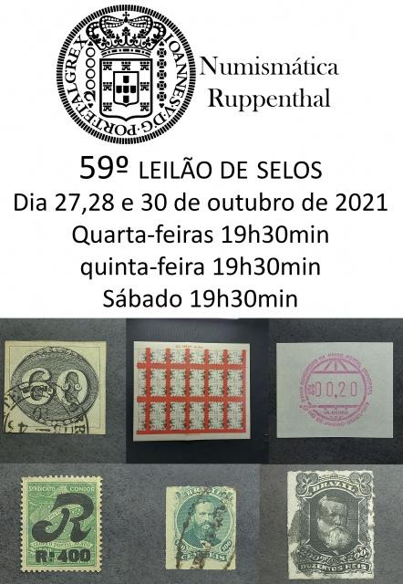 59º LEILÃO DE SELOS - NUMISMÁTICA RUPPENTHAL