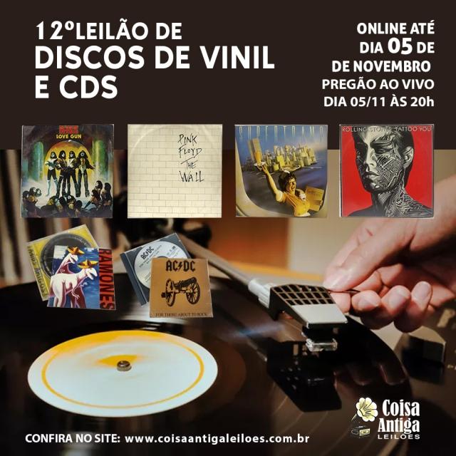 LEILÃO DE MÚSICA (CDs - DISCOS DE VINIL)