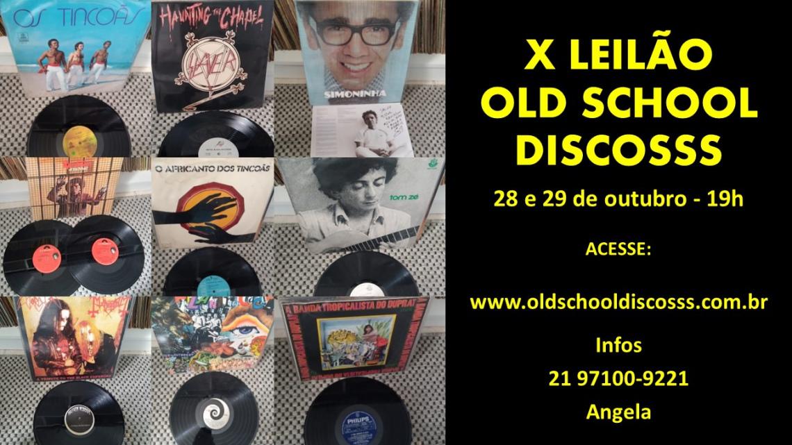 X LEILÃO OLD SCHOOL DISCOSSS -LPS: ROCK - JAZZ - BOSSA NOVA - MPB - JOVEM GUARDAS PEÇAS ANTIGAS