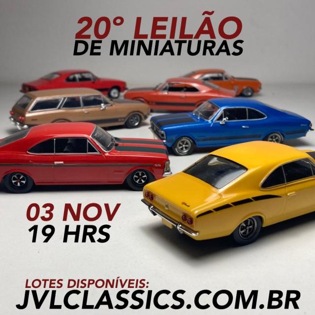 20º Leilão de Miniaturas de Carros Colecionáveis JVL Classics - Edição de Aniversário