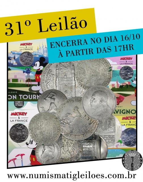 31º LEILÃO DE NUMISMÁTICA - NUMISMATIG LEILÕES