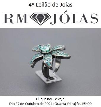 4º Leilão de Joias - RM JOIAS - Dia 27 de Outubro de 2021 (Quarta-feira) às 15h00