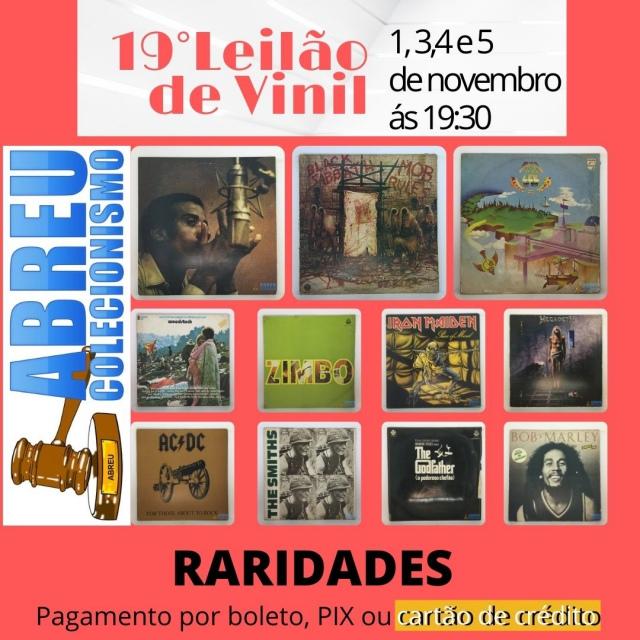 19 LEILÃO DE VINIL RARIDADES
