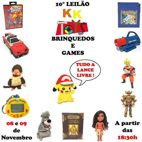 10º LEILÃO KK TOYS - BRINQUEDOS E GAMES