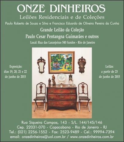 Grande Leilão da Coleção de Paulo Cesar Pentangna Guimarães e outros (21) 99994-7394 . 98293-0136
