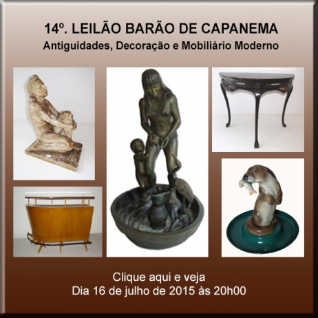 14º Barão de Capanema Leilões - Antiguidades, Decoração & Mobiliário