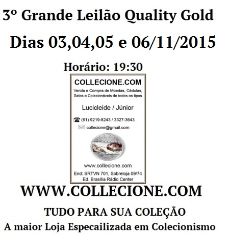3º Grande Leilão QUALITY GOLD - COLLECIONE.COM