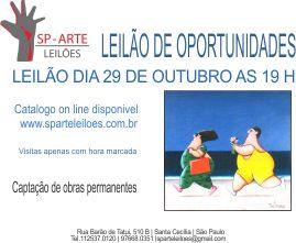 LEILÃO DE ARTE DE OPORTUNIDADES