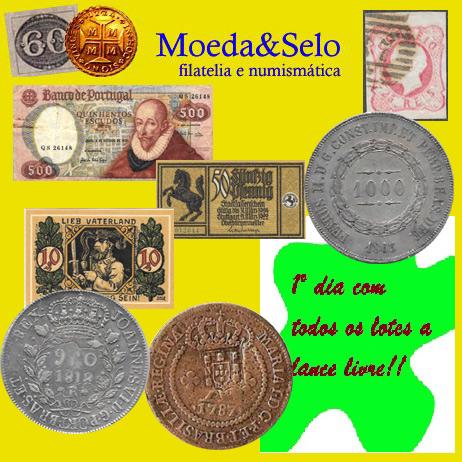 49º LEILÃO MOEDA E SELO DE FILATELIA E NUMISMÁTICA (1º DIA COM LANCE LIVRE PARA TODOS OS LOTES!!!!)