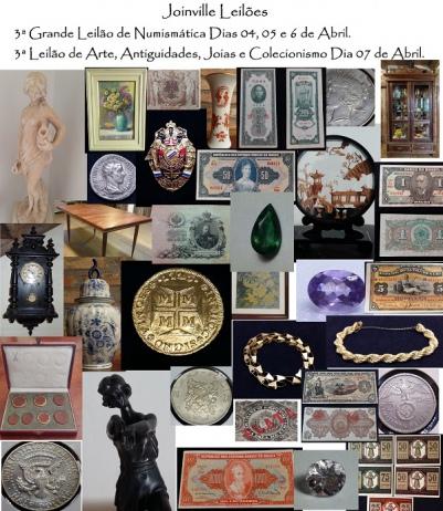 Leilão de Arte, Antiguidades, Joias e Colecionismo.
