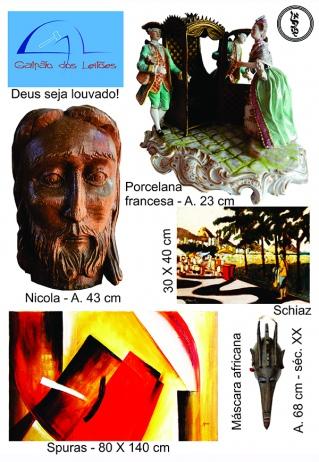 LEILÃO 3678 - ARTE, DECORAÇÃO E TELECARTOFILIA - 23 e 26/01/2016