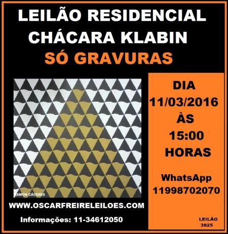 LEILÃO RESIDENCIAL CHÁCARA KLABIN