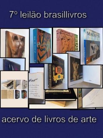 7º leilão brasillivros - acervo de livros de arte