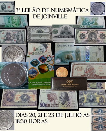 3ª Leilão de Numismática de  Joinville.