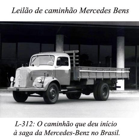 LEILÃO DE CAMINHÃO MERCEDES BENS