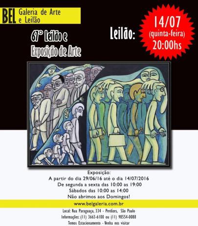 67º LEILÃO DE ARTE BEL GALERIA