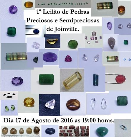 1º LEILÃO DE PEDRAS PRECIOSAS E SEMI-PRECIOSAS DE JOINVILLE.