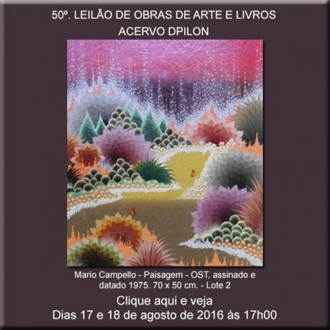 50º LEILÃO DE OBRAS DE ARTE E LIVROS - Acervo DPilon