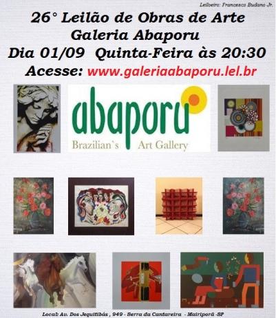 26º LEILÃO DA ABAPORU BRAZILIANS ART GALLERY