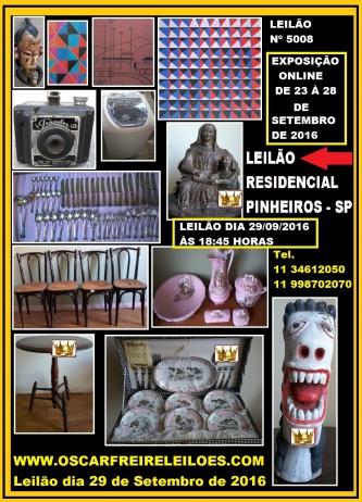 LEILÃO RESIDENCIAL PINHEIROS - SP - 11 34612050
