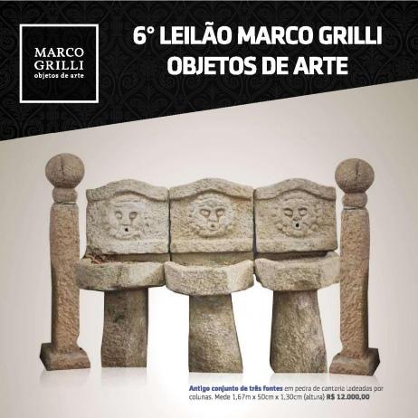 SEXTO LEILÃO MARCO GRILLI - OBJETOS DE ARTE - (31) 3275-4461   99957-9043