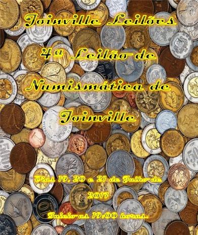4ª Leilão de Numismática de Joinville.