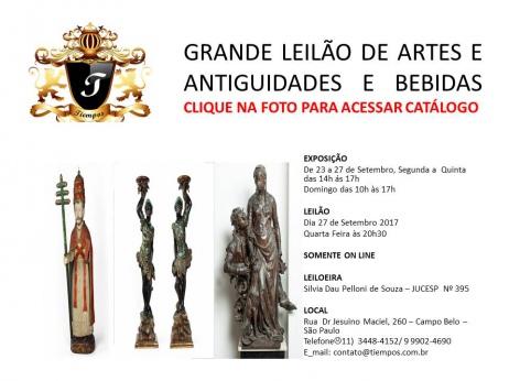 GRANDE LEILÃO DE ARTES E ANTIGUIDADES E BEBIDAS