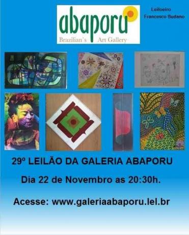 29º LEILÃO DA ABAPORU BRAZILLIANS ART GALLERY