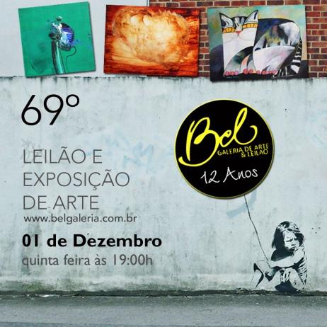 69º LEILÃO DE ARTE BEL GALERIA
