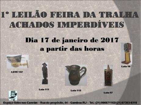1º LEILÃO FEIRA DA TRALHA - ACHADOS IMPERDÍVEIS