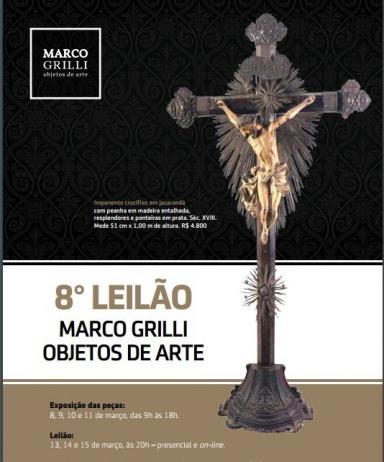 OITAVO LEILÃO MARCO GRILLI - objetos de arte