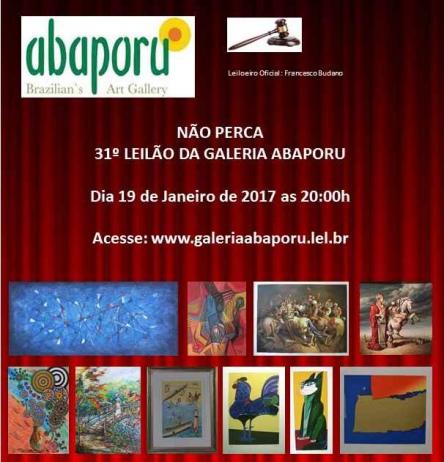 31º LEILÃO DA ABAPORU BRAZILLIANS ART GALLERY