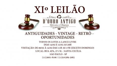 XIº LEILÃO ANTIGUIDADES - VINTAGE - RETRÔ - OPORTUNIDADES