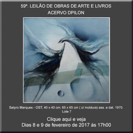 59º LEILÃO Acervo DPilon - OBRAS DE ARTE E LIVROS - OPORTUNIDADES