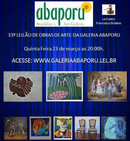 33º LEILÃO DA ABAPORU BRAZILLIANS ART GALLERY